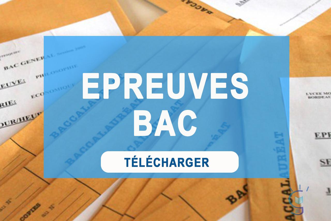 Anciens Sujets/Épreuves BAC Technique Commercial Séries ACC & CG